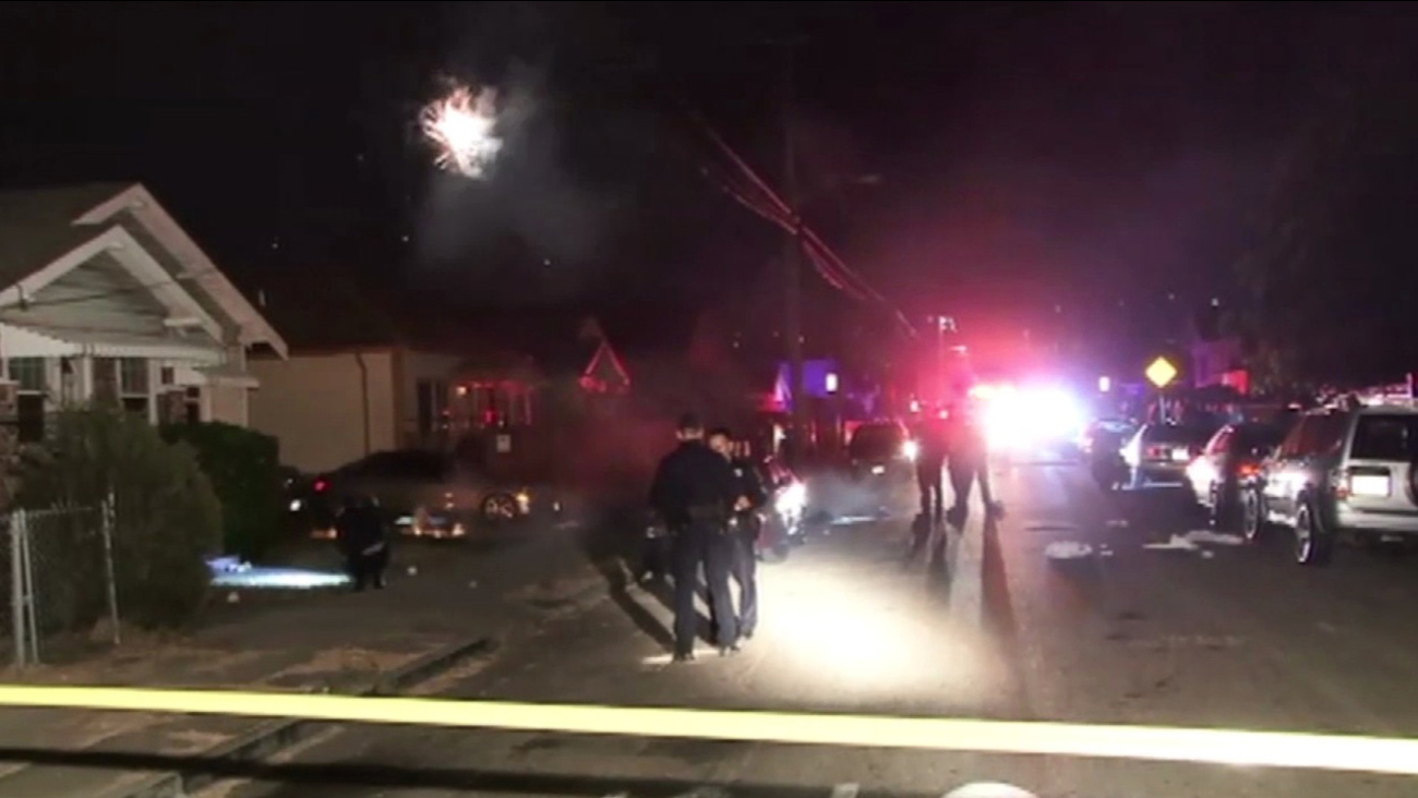 Power line down in Oakland that led to electrocution.