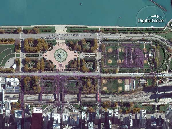 <div class='meta'><div class='origin-logo' data-origin='none'></div><span class='caption-text' data-credit='DigitalGlobe'>DigitalGlobe's GeoEye-1 satellite captured the Chicago Cubs' World Series victory parade on November 4, 2016. The rally was so large, it could be seen from space.</span></div>