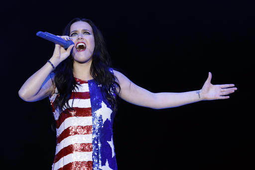 <div class='meta'><div class='origin-logo' data-origin='AP'></div><span class='caption-text' data-credit='AP'>Katy Perry performs during a concert supporting Democratic presidential candidate Hillary Clinton, Saturday, Nov. 5, 2016, at the Mann Center for the Performing Arts.</span></div>