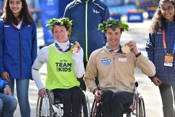 "<div class=""meta image-caption""><div class=""origin-logo origin-image none""><span>none</span></div><span class=""caption-text"">Tatyana McFadden and Marcel Hug won the women's and men's wheelchair races in the TCS New York City Marathon.</span></div>"