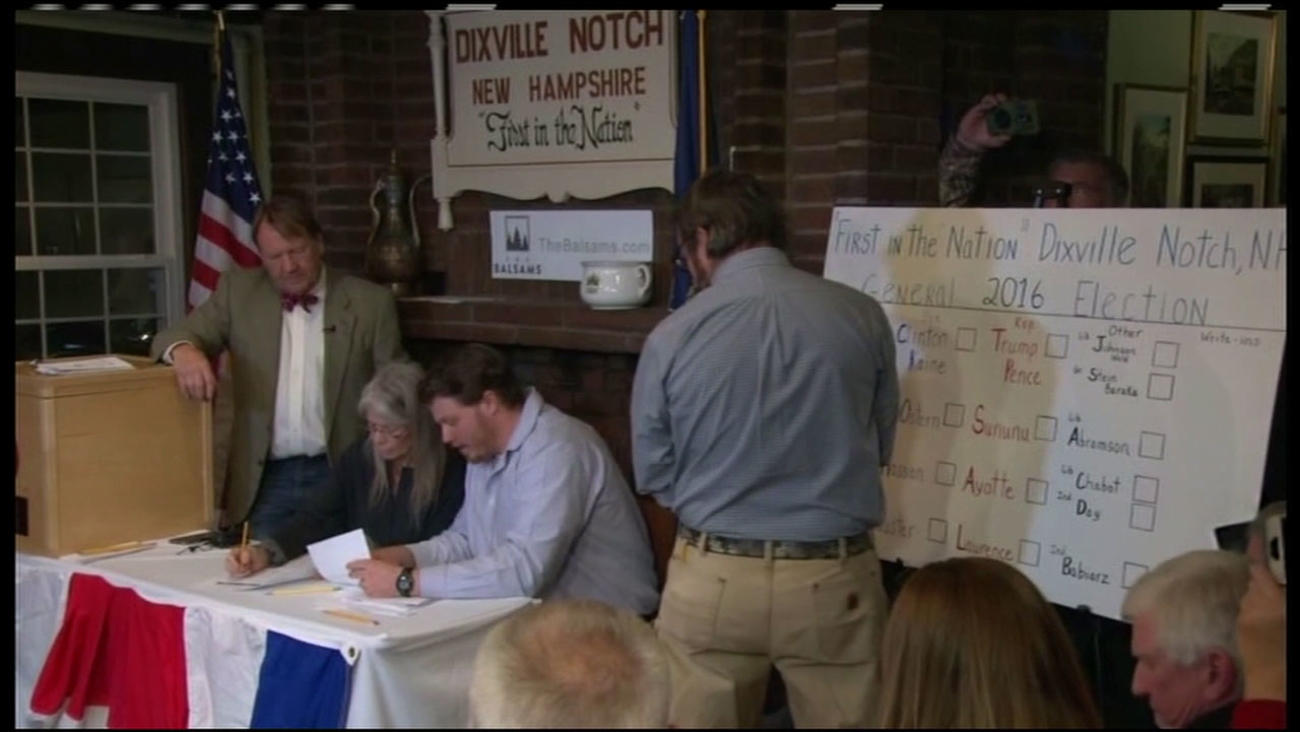 The town of Dixville Notch, New Hampshire cast its presidential ballots at midnight.