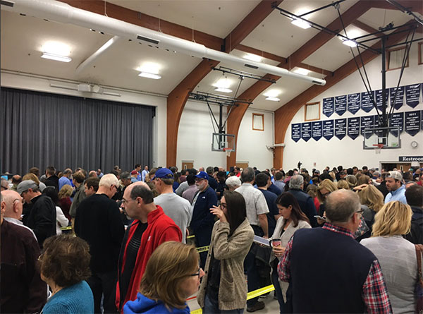 "<div class=""meta image-caption""><div class=""origin-logo origin-image none""><span>none</span></div><span class=""caption-text"">The crowd inside a polling place is shown in Fishers, Ind., on Tuesday morning. (CGerrity/Twitter)</span></div>"