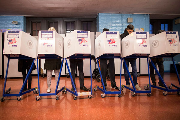 "<div class=""meta image-caption""><div class=""origin-logo origin-image none""><span>none</span></div><span class=""caption-text"">Voters fill out their forms at a polling station in the Brooklyn borough of New York, Tuesday, Nov. 8, 2016. (Alexander F. Yuan/AP Photo)</span></div>"