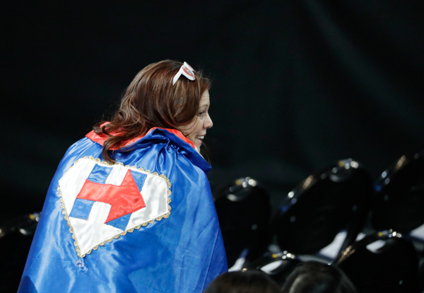 "<div class=""meta image-caption""><div class=""origin-logo origin-image none""><span>none</span></div><span class=""caption-text"">A supporter wearing a cape watches Hillary Clinton's election night rally in the Jacob Javits Center glass enclosed lobby in New York, Tuesday, Nov. 8, 2016. (David Goldman/AP Photo)</span></div>"
