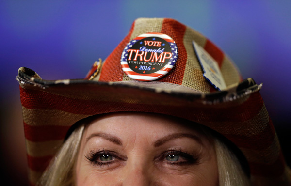 <div class='meta'><div class='origin-logo' data-origin='none'></div><span class='caption-text' data-credit='Michael Conroy/AP Photo'>Donna Deer, a supporter of Republican presidential candidate Donald Trump, waits to be interviewed during an election night rally in Indianapolis, Tuesday, Nov. 8, 2016.</span></div>
