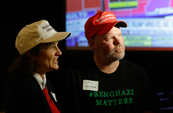 <div class='meta'><div class='origin-logo' data-origin='none'></div><span class='caption-text' data-credit='Ted S. Warren/AP Photo'>Gary and Mary Allason of Purdy, Wash. take part in a television interview, at a Republican party gathering in Bellevue, Wash.</span></div>
