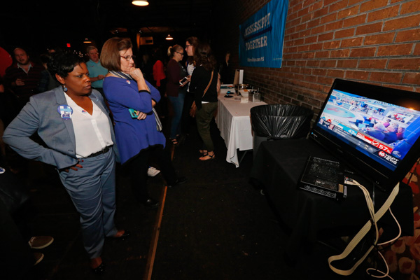 "<div class=""meta image-caption""><div class=""origin-logo origin-image none""><span>none</span></div><span class=""caption-text"">Democratic presidential candidate Hillary Clinton watch results come in during a state Democratic Party election watch party in Jackson, Miss., Tuesday, Nov. 8, 2016. (Rogelio V. Solis/AP)</span></div>"