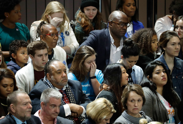"<div class=""meta image-caption""><div class=""origin-logo origin-image none""><span>none</span></div><span class=""caption-text"">Guests watch election results during Hillary Clinton's election night rally in the Jacob Javits Center glass enclosed lobby in New York, Tuesday, Nov. 8, 2016. (David Goldman/AP)</span></div>"
