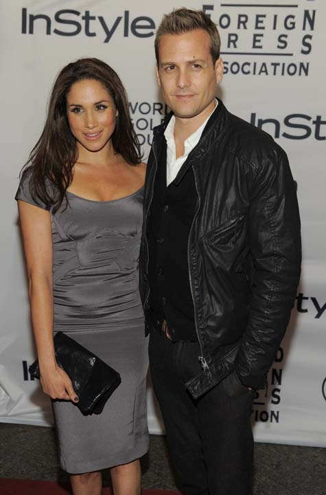 "<div class=""meta image-caption""><div class=""origin-logo origin-image ap""><span>AP</span></div><span class=""caption-text"">Actors Gabriel Macht and Meghan Markle pose together at the 13th Annual InStyle and Hollywood Foreign Press Association Toronto International Film Festival Party (Chris Pizzello/Invision/AP)</span></div>"