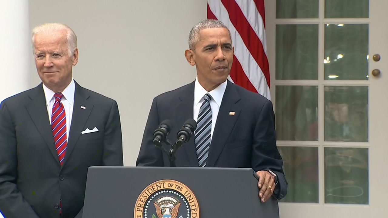 President Obama addresses Trump victory