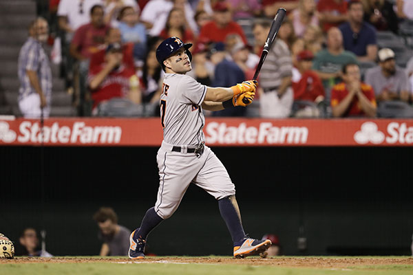 "<div class=""meta image-caption""><div class=""origin-logo origin-image ap""><span>AP</span></div><span class=""caption-text"">Houston Astros' Jose Altuve watches his fly ball during the third inning of a baseball game against the Los Angeles Angels, Saturday, Oct. 1, 2016. (AP Photo/Jae C. Hong)</span></div>"