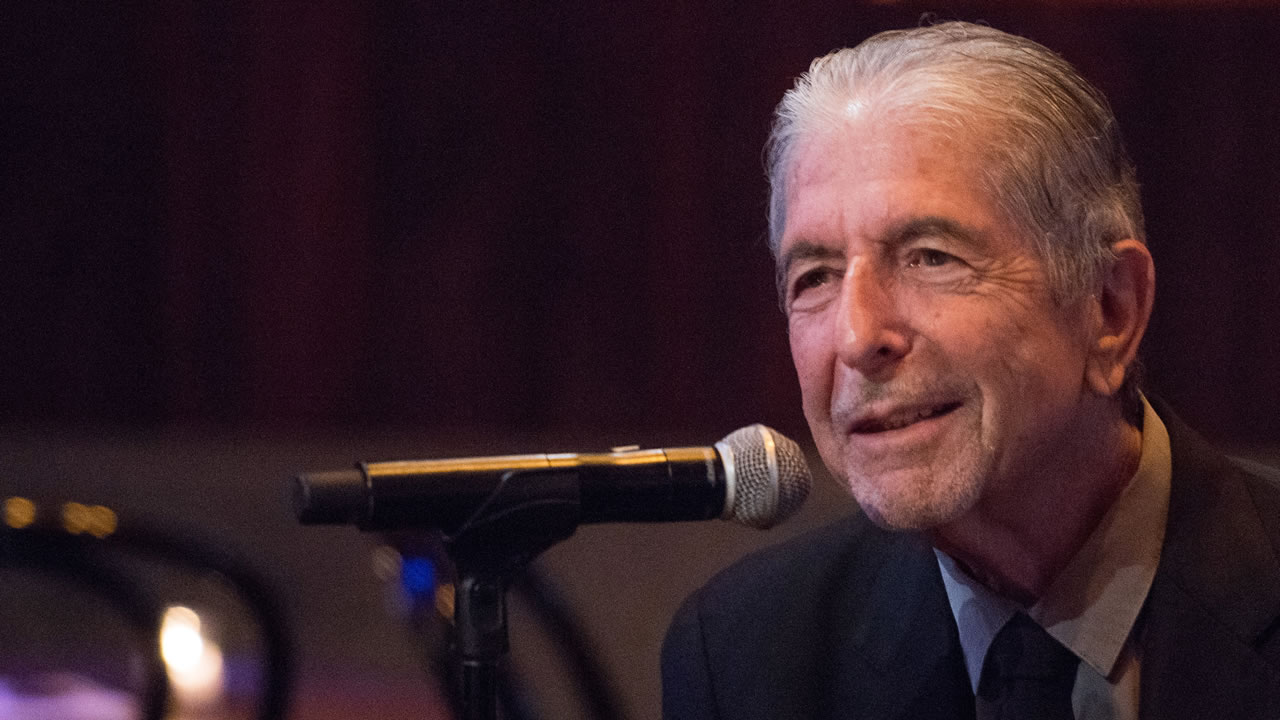"Leonard Cohen attends a listening party for his new album ""Popular Problems"" on Thursday, Sept. 18, 2014 in New York."