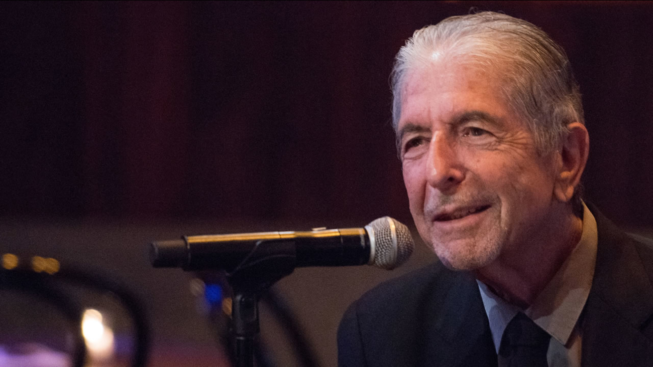 """Leonard Cohen attends a listening party for his new album """"Popular Problems"""" on Thursday, Sept. 18, 2014 in New York."""