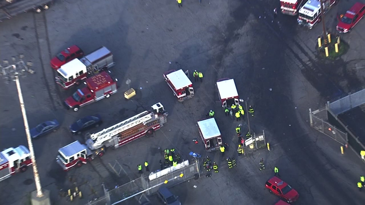 Crews respond to a possible hazmat situation at San Francisco's Pier 96 on Friday, Nov. 11, 2016.