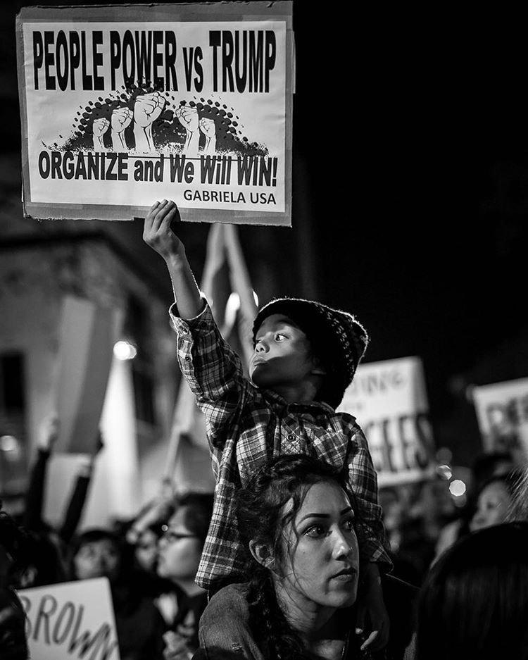 <div class='meta'><div class='origin-logo' data-origin='none'></div><span class='caption-text' data-credit='streetmachina/Instagram'>Bay Area residents are protesting Donald Trump and the results of the 2016 election. This photo was sent in by a viewer using #abc7now.</span></div>
