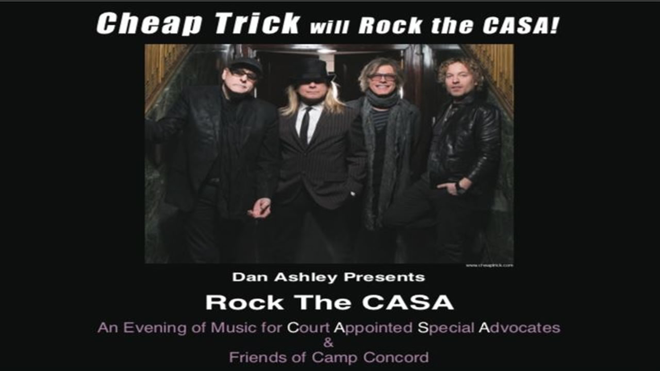 Cheap Trick will play ABC7 anchor Dan Ashley's Rock The Casa event on March 5th, 2016.