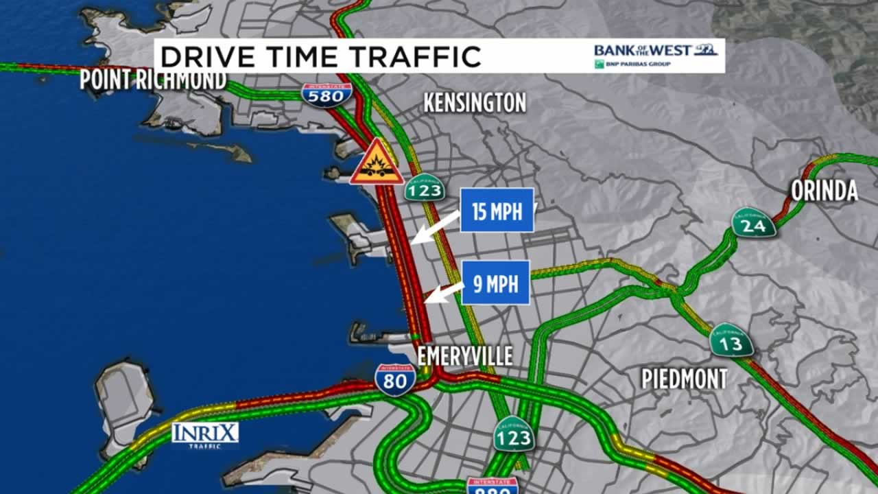 There are major delays on EB 80 to WB 580 after a pedestrian was hit and killed on Monday, Nov. 14, 2016 in Albany, Calif.