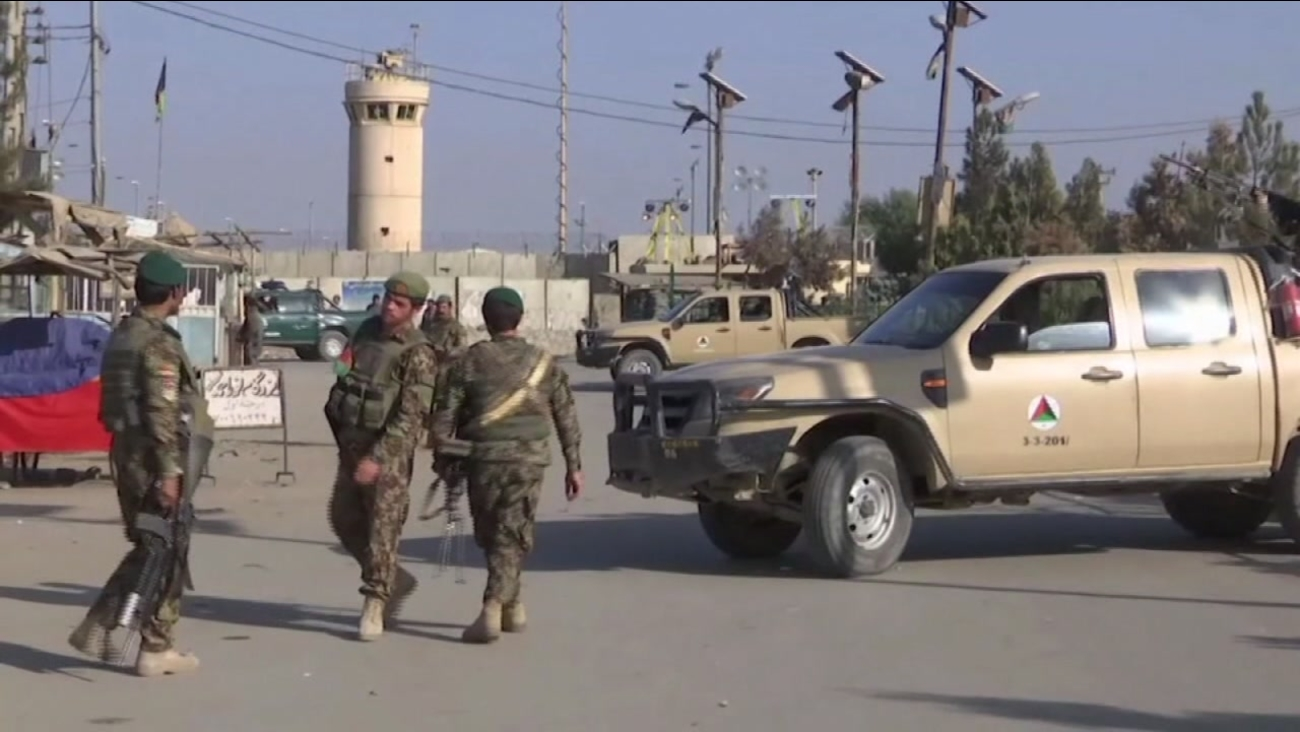 NATO says an explosion inside Bagram Airfield, a large U.S. base north of Kabul, has caused casualties.