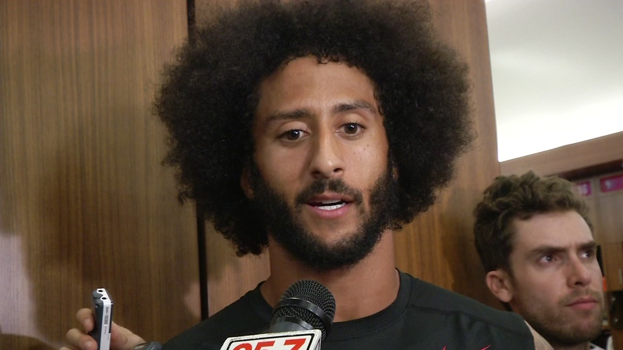 This image shows 49ers quarterback Colin Kaepernick.