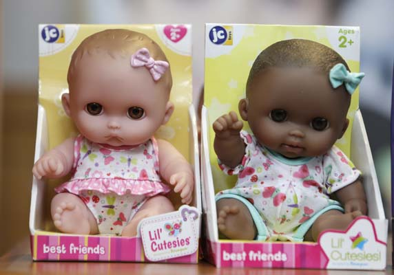 """<div class=""""meta image-caption""""><div class=""""origin-logo origin-image ap""""><span>AP</span></div><span class=""""caption-text"""">""""Lil Cutesies"""" doll, which made the annual list of worst toys, at Franciscan Hospital for Children in Boston, Wednesday, Nov. 19, 2014. ((AP Photo/Charles Krupa))</span></div>"""