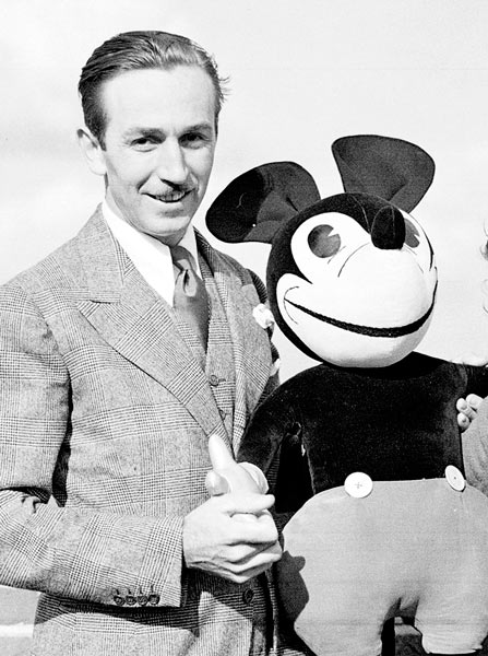 <div class='meta'><div class='origin-logo' data-origin='none'></div><span class='caption-text' data-credit='AP Photo'>U.S. cartoonist Walt Disney poses with one of his creations, Mickey Mouse, on the roof of Grosvenor House in London, June. 12, 1935.</span></div>