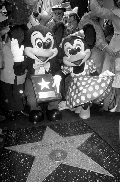 <div class='meta'><div class='origin-logo' data-origin='none'></div><span class='caption-text' data-credit='AP Photo/George Brich'>Mickey Mouse became the 1700th star, and first animated personality, to have his star placed on Hollywood Boulevard's Walk of Fame in 1978.</span></div>