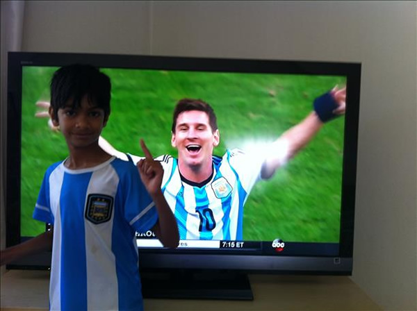 "<div class=""meta image-caption""><div class=""origin-logo origin-image ""><span></span></div><span class=""caption-text"">Big Messi fan! Keep sending in your World Cup fan photos! (photo submitted by Dinesh via uReport)</span></div>"