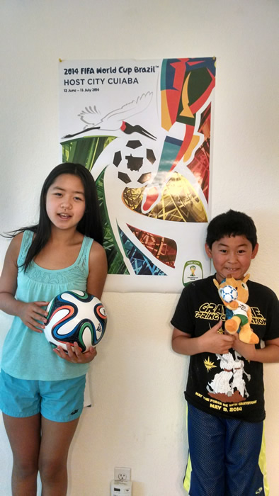 "<div class=""meta image-caption""><div class=""origin-logo origin-image ""><span></span></div><span class=""caption-text"">Hannah and William have World Cup fever! Keep sending in your World Cup fan photos! (photo submitted via uReport)</span></div>"