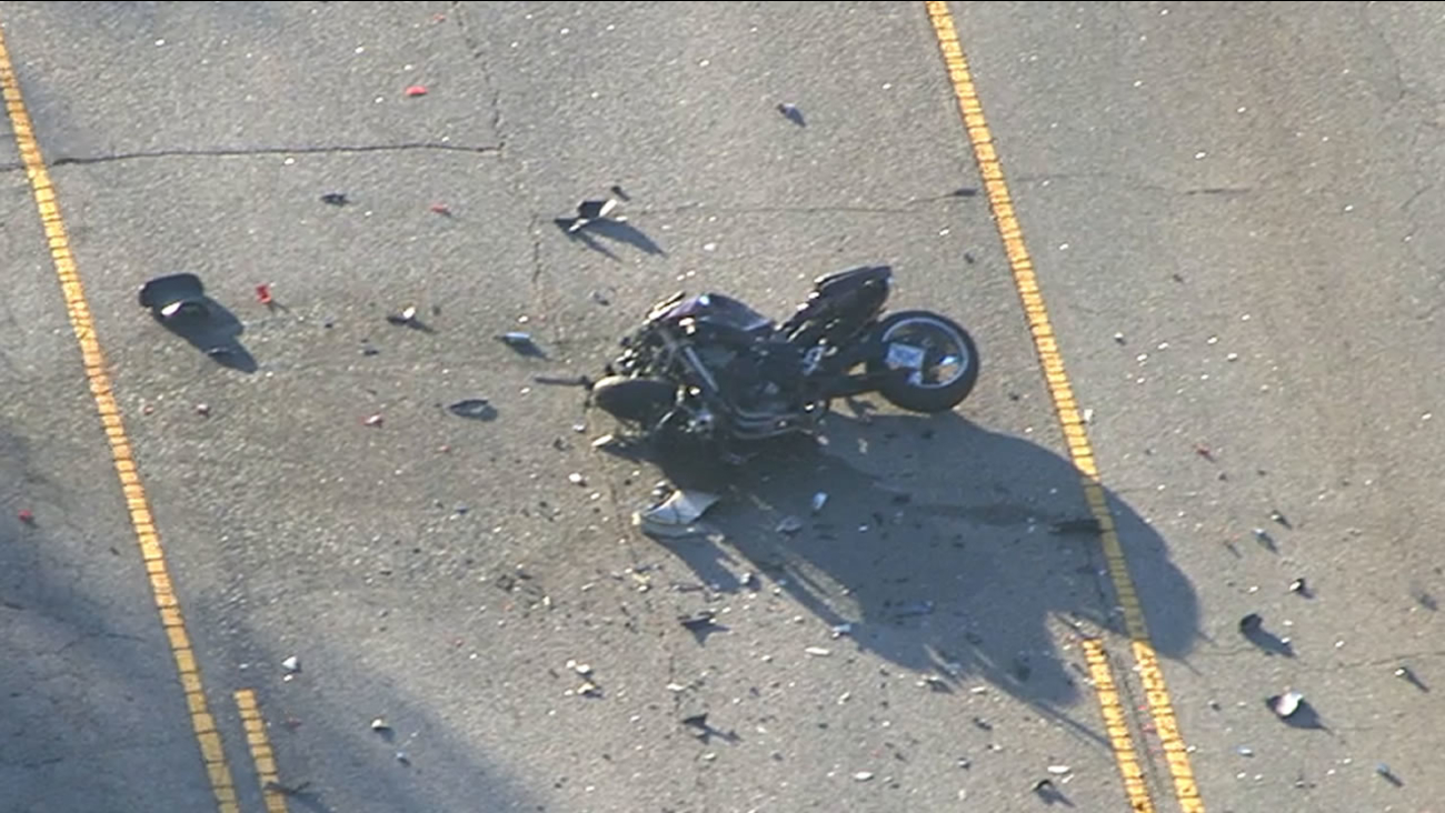 The bike was destroyed in the crash