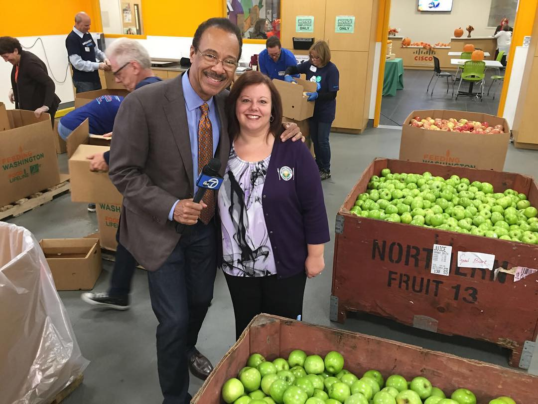 <div class='meta'><div class='origin-logo' data-origin='none'></div><span class='caption-text' data-credit='KGO-TV'>Spencer Christian is at the Second Harvest Food Bank for San Mateo and Santa Clara counties and is standing next to Diane Zapata, director of Second Harvest volunteer services.</span></div>