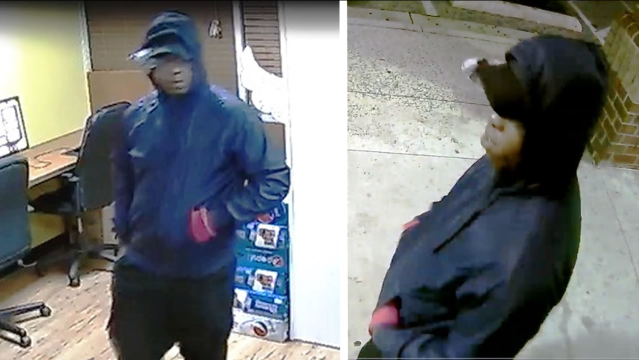 Surveillance photos of a man who allegedly robbed a sweepstakes business in Durham.