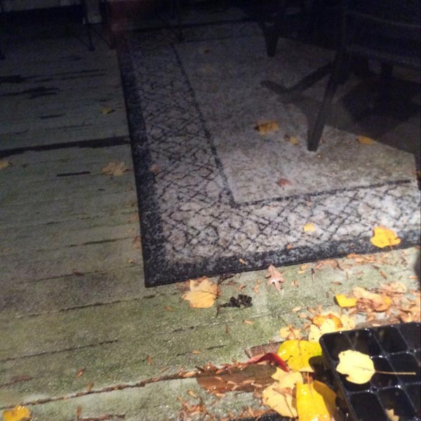 "<div class=""meta image-caption""><div class=""origin-logo origin-image wpvi""><span>WPVI</span></div><span class=""caption-text"">Parts of the Philadelphia region felt a wintry mix Saturday night. (Credit: Sarah from Stratford, NJ)</span></div>"