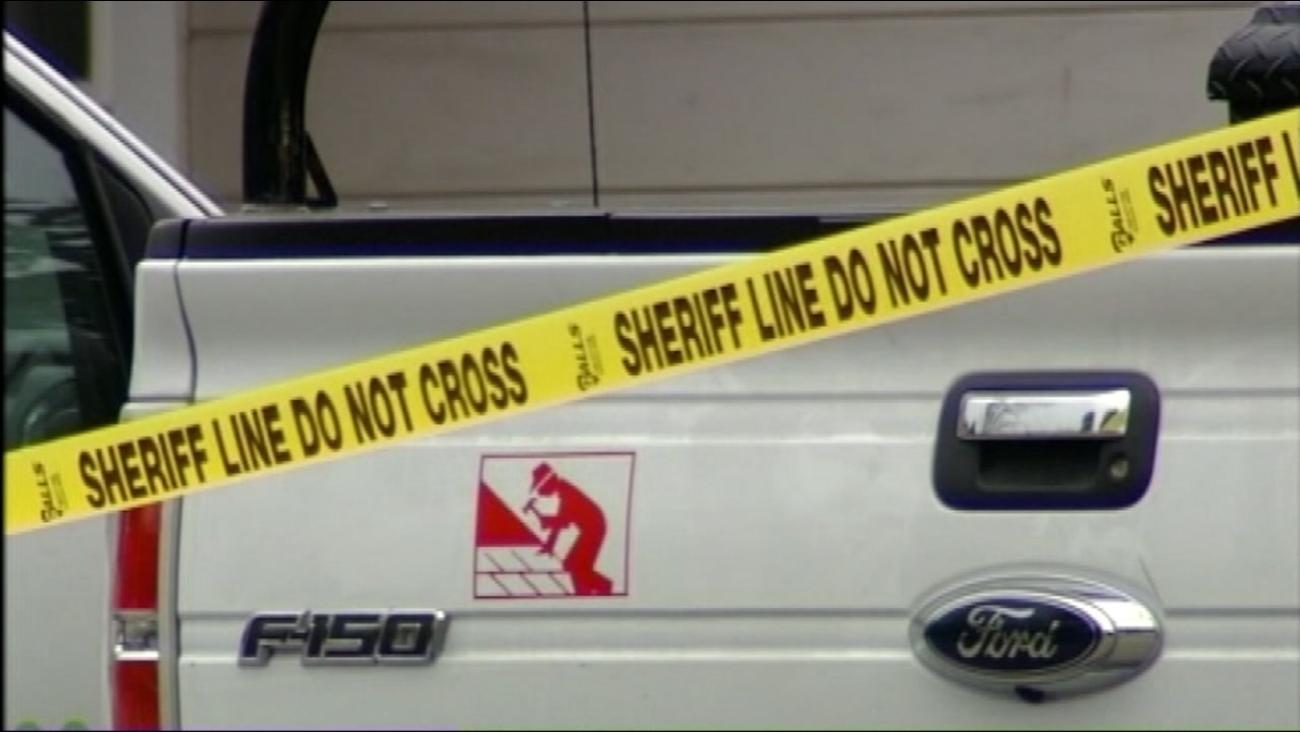 Crime tape is seen after Santa Cruz deputies respond to a stabbing near Watsonville, Calif. on Saturday, November 20, 2016.