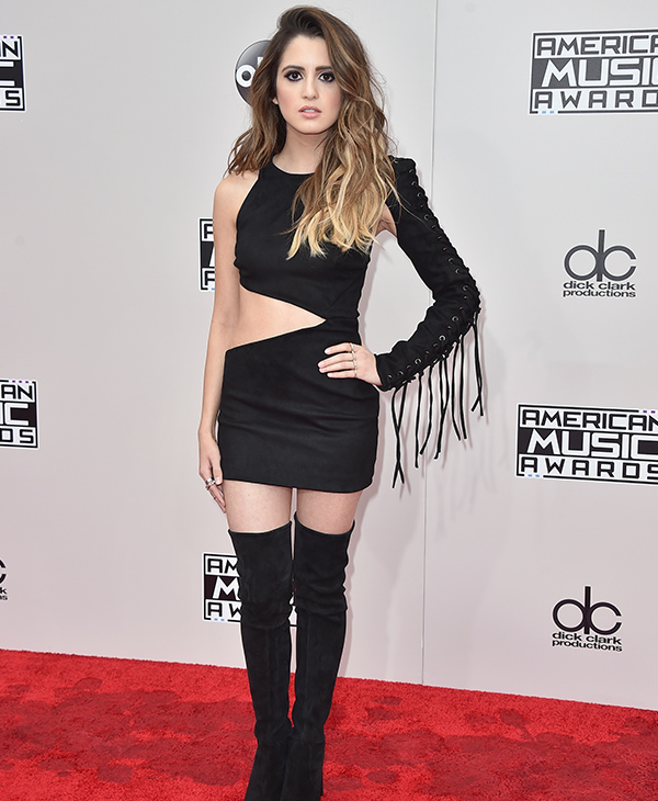"<div class=""meta image-caption""><div class=""origin-logo origin-image none""><span>none</span></div><span class=""caption-text"">Laura Marano arrives at the American Music Awards at the Microsoft Theater on Sunday, Nov. 20, 2016, in Los Angeles. (Jordan Strauss/Invision/AP)</span></div>"