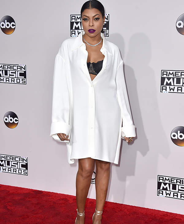 "<div class=""meta image-caption""><div class=""origin-logo origin-image none""><span>none</span></div><span class=""caption-text"">Taraji P. Henson arrives at the American Music Awards at the Microsoft Theater on Sunday, Nov. 20, 2016, in Los Angeles. (Jordan Strauss/Invision/AP)</span></div>"