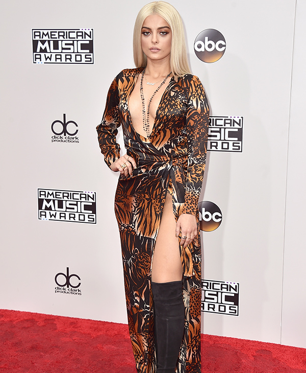 "<div class=""meta image-caption""><div class=""origin-logo origin-image none""><span>none</span></div><span class=""caption-text"">Bebe Rexha arrives at the American Music Awards at the Microsoft Theater on Sunday, Nov. 20, 2016, in Los Angeles. (Jordan Strauss/Invision/AP)</span></div>"