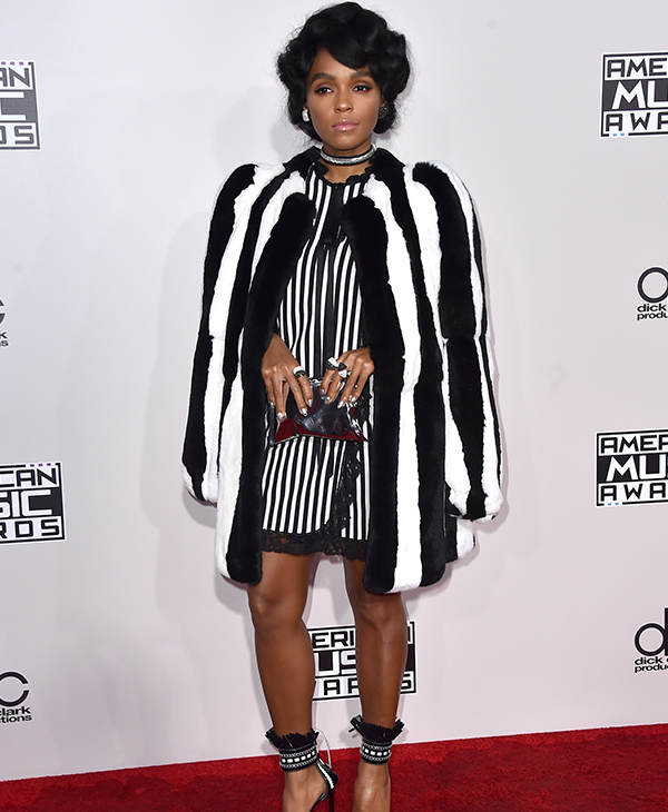 "<div class=""meta image-caption""><div class=""origin-logo origin-image none""><span>none</span></div><span class=""caption-text"">Janelle Monae arrives at the American Music Awards at the Microsoft Theater on Sunday, Nov. 20, 2016, in Los Angeles. (Jordan Strauss/Invision/AP)</span></div>"