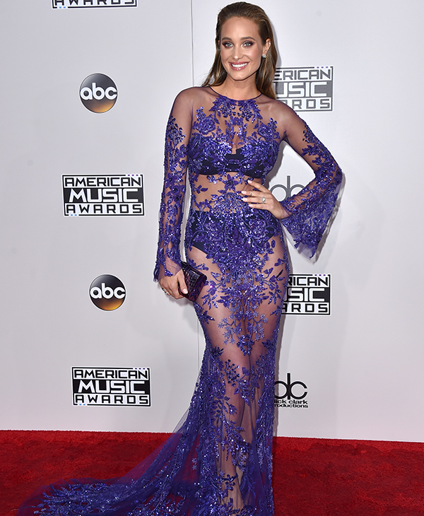 "<div class=""meta image-caption""><div class=""origin-logo origin-image none""><span>none</span></div><span class=""caption-text"">Hannah Davis arrives at the American Music Awards at the Microsoft Theater on Sunday, Nov. 20, 2016, in Los Angeles. (Jordan Strauss/Invision/AP)</span></div>"