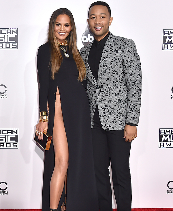 "<div class=""meta image-caption""><div class=""origin-logo origin-image none""><span>none</span></div><span class=""caption-text"">Chrissy Teigen, left, and John Legend arrive at the American Music Awards at the Microsoft Theater on Sunday, Nov. 20, 2016, in Los Angeles. (Jordan Strauss/Invision/AP)</span></div>"