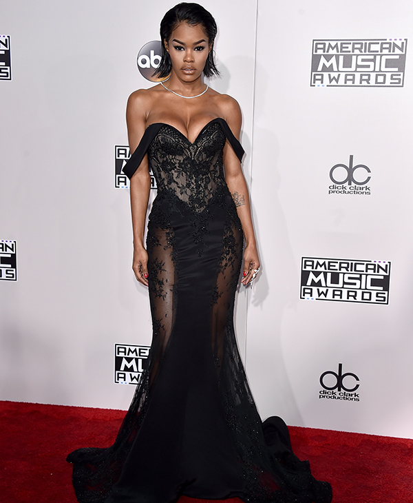 "<div class=""meta image-caption""><div class=""origin-logo origin-image none""><span>none</span></div><span class=""caption-text"">Teyana Taylor arrives at the American Music Awards at the Microsoft Theater on Sunday, Nov. 20, 2016, in Los Angeles. (Jordan Strauss/Invision/AP)</span></div>"