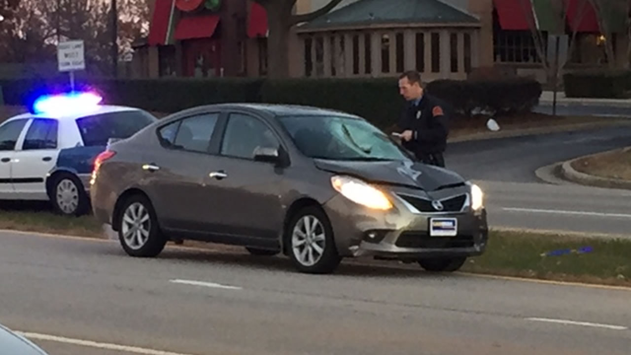 Police investigate after a person was hit by a car on Glenwood Avenue.