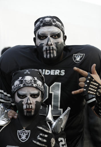 """<div class=""""meta image-caption""""><div class=""""origin-logo origin-image ap""""><span>AP</span></div><span class=""""caption-text"""">Oakland Raiders fans arrive to Azteca Stadium before an NFL football game against the Houston Texans Monday, Nov. 21, 2016, in Mexico City. (AP Photo/Rebecca Blackwell)</span></div>"""