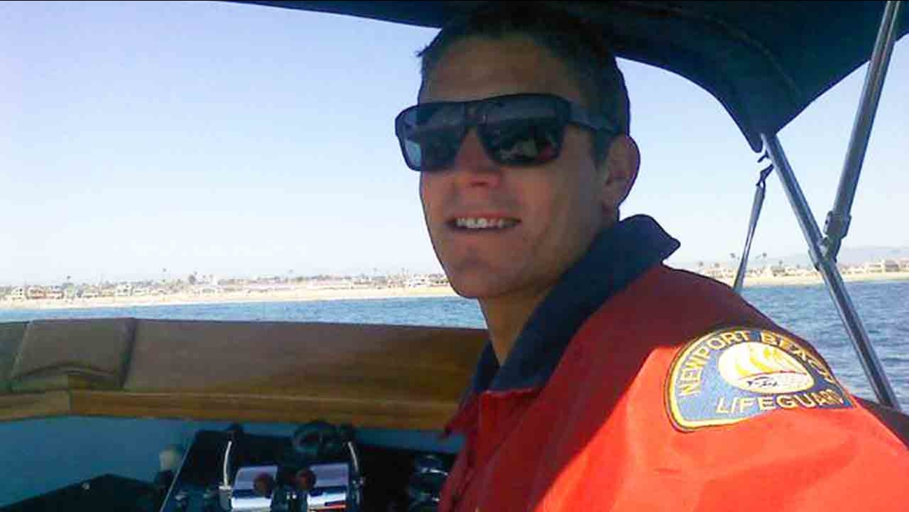 Ben Carlson, 32, died attempting to rescue a swimmer in distress off Newport Beach Sunday, July 6, 2014.
