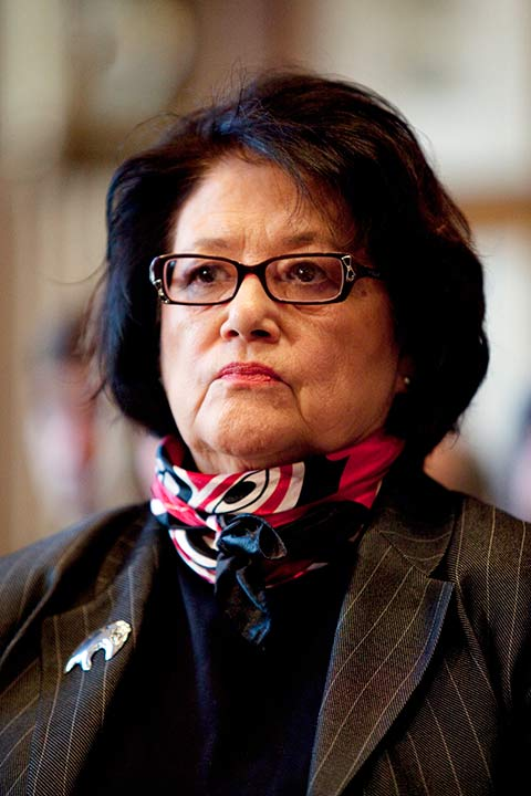 """<div class=""""meta image-caption""""><div class=""""origin-logo origin-image ap""""><span>AP</span></div><span class=""""caption-text"""">Elouise Cobell was a Blackfeet Tribal community leader and an advocate for Native American self-determination and financial independence.</span></div>"""