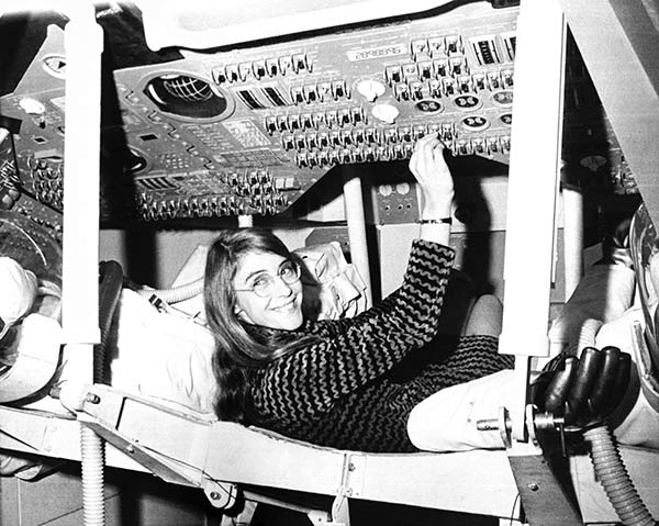"""<div class=""""meta image-caption""""><div class=""""origin-logo origin-image ap""""><span>AP</span></div><span class=""""caption-text"""">Margaret H. Hamilton led the team that created the on-board flight software for NASA's Apollo command modules and lunar modules.</span></div>"""