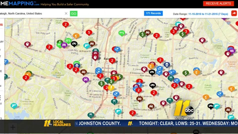 Raleigh police launch new crime mapping tool on
