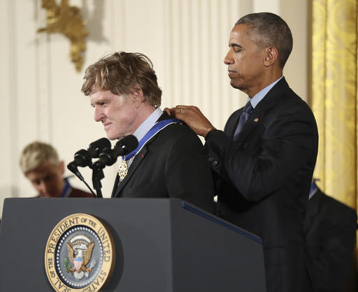 "<div class=""meta image-caption""><div class=""origin-logo origin-image ap""><span>AP</span></div><span class=""caption-text"">President Barack Obama presents the Presidential Medal of Freedom to actor Robert Redford, Tuesday, Nov. 22, 2016.  (AP Photo/Manuel Balce Ceneta) (AP)</span></div>"