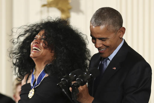 "<div class=""meta image-caption""><div class=""origin-logo origin-image ap""><span>AP</span></div><span class=""caption-text"">President Barack Obama presents the Presidential Medal of Freedom to Diana Ross in the East Room of the White House Tuesday, Nov. 22, 2016. (AP Photo/Manuel Balce Ceneta) (AP)</span></div>"
