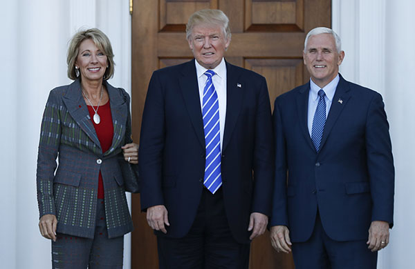 "<div class=""meta image-caption""><div class=""origin-logo origin-image none""><span>none</span></div><span class=""caption-text"">Trump has chosen charter school advocate Betsy DeVos as his secretary of education. (Carolyn Kaster/AP Photo)</span></div>"