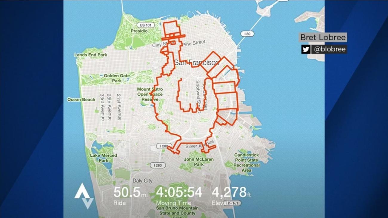 Map of Turkey Ride through San Francisco